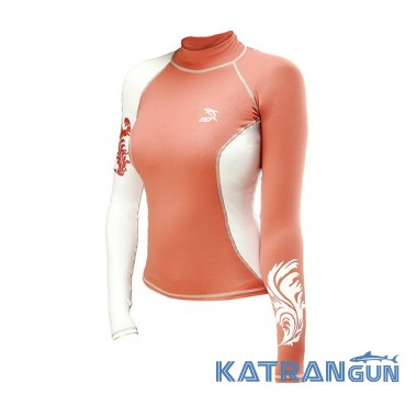 Женская футболка для плавания IST DS56; длинный рукав