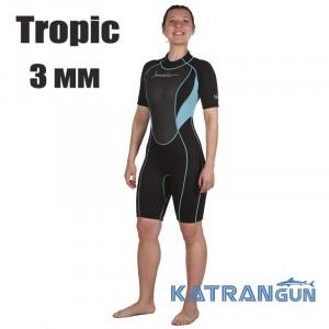 Женский гидрокостюм для плавания Marlin Tropic Shorty Lady 3 мм
