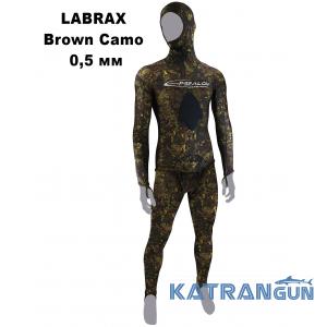 Лайкровый гидрокостюм Epsealon Labrax Camo Brown 0.5 мм