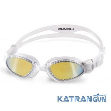 Зеркальные очки для плавания Head Superflex Mid + зеркальное покрытие