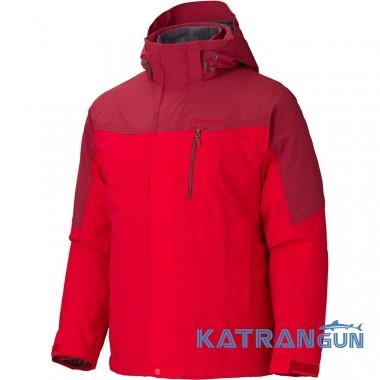 Водонепроницаемая куртка 3-в-1 Marmot Bastione Component Jacket, Team Red/Brick