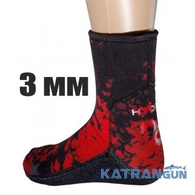 Шкарпетки неопренові Hydra Spearfishing Red Camo 3 мм