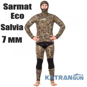 Гідрокостюм для підводного полювання Marlin Sarmat Eco Salvia; 7 мм