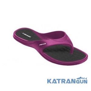 Женские шлёпанцы для бассейна Head Orion; фиолетово-чёрные