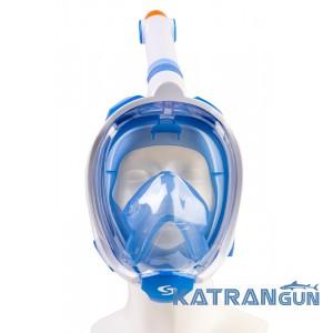 Детская маска для плавания на все лицо набор Scorpena Junior маска+трубка