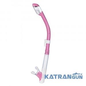 Трубка для снорклінгу Cressi Sub Tao Dry рожева