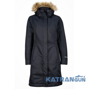 Пуховик длинный женский Marmot Women's Chelsea Coat, Black