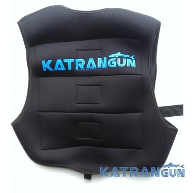 Разгрузочный жилет подводного охотника KatranGun; неопреновый; чёрный