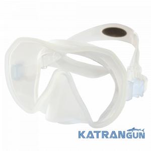 найкраща маска для підводного полювання Beuchat Maxlux, прозора