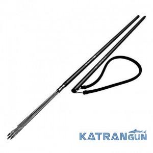 Гавайка для підводного полювання Salvimar Pole Spear 170 см; двоколійні; чорна (без гумки!)