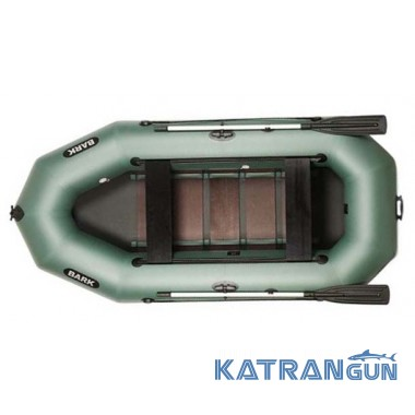 Весловий надувний човен Bark B-300D, пересувні сидіння