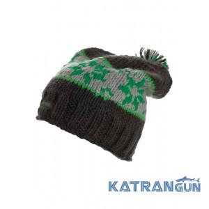 Шапка с помпоном мужская Marmot Snowfall Pom Hat, Dark Granite