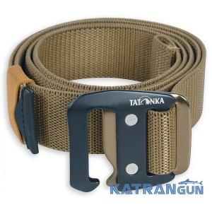 Прочный туристический ремень Tatonka Stretch Belt 32mm coyote brown