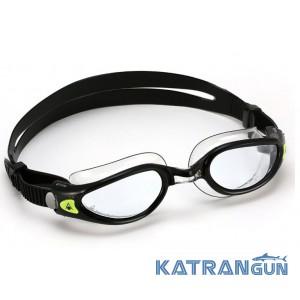 Стильные очки для плавания Aqua Sphere Kaiman EXO; черно-прозрачные
