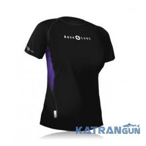 Женская футболка для плавания AquaLung Loose Fit; короткий рукав