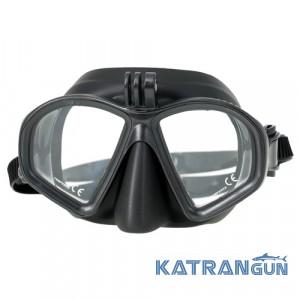 Подводная маска Marlin Matte + GoPro; чёрная