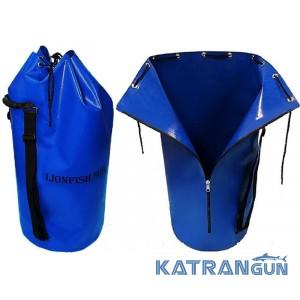 Гермомішок для спорядження KatranGun Баул (від LionFish) 125 л; на блискавці; з двома плечовими ременями