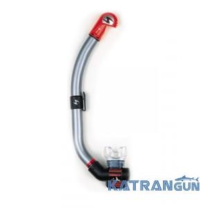 Трубка для дайвинга AquaLung Air Dry; серебристая