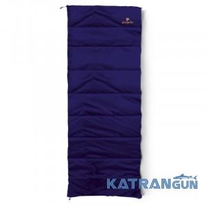 Спальник одеяло для несложных походов Pinguin Travel, Blue