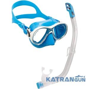 Дитячий набір для плавання Cressi Sub Marea Vip Junior; синій