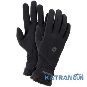 Перчатки на каждый день Marmot Women's Fuzzy Wuzzy Gloves, Black