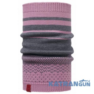 Легкий шарф Buff Knitted Neckwarmer Mawi lilac shadow