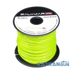 Катушечный линь Salvimar Acidyne Dyneema ø1,5 мм ярко-зелёный