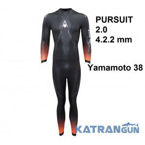 Мужской гидрокостюм триатлон Aqua Sphere PURSUIT 2.0 4.2.2 mm 2019