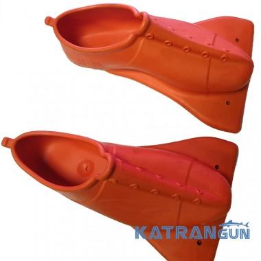 Анатомічні калоші для ласт C4 Mustang; помаранчеві (пара)