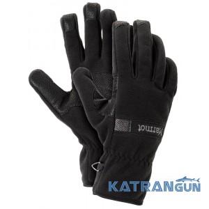 Мужские перчатки зимние Marmot Windstopper Glove, Black