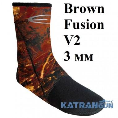 Носки с усилением Epsealon Brown Fusion V2 3 мм