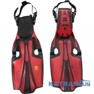Ласты для фридайвинга Poseidon Sport Fin; красные