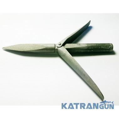 Наконечник Katrangun Pro, трёхгранный удлинённая голова, 2 флажка, матовый