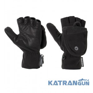 Перчатки беспалые Marmot Windstopper Convertible Glove, True Black