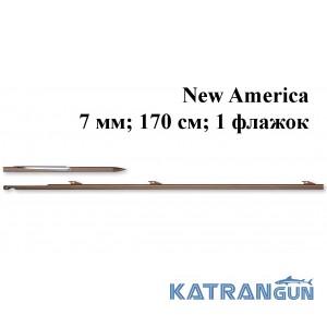 Гарпун для арбалетів Omer New America; 7 мм; 170 см; 1 прапорець