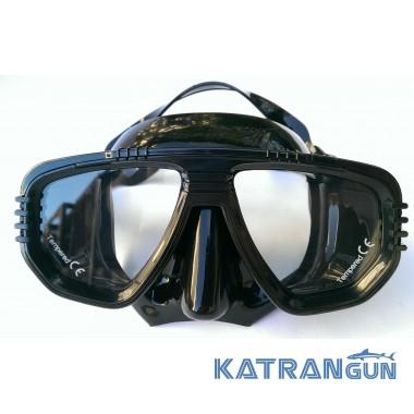 Маска для подводного плавания IST Corona, чёрная