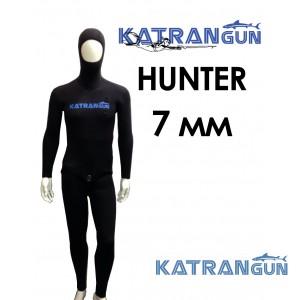 Гидрокостюм подводной охоты KatranGun Hunter 7 мм; штаны с лямками