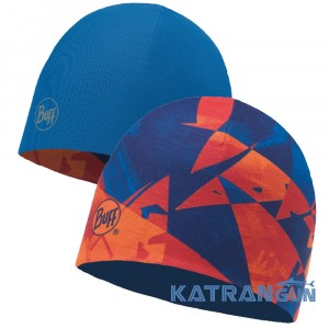 Легка двостороння шапка Buff Microfiber Reversible Hat rush multi - blue skydiver