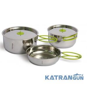 Набор туристической посуды из нержавеющей стали Pinguin Duo 16/14 S