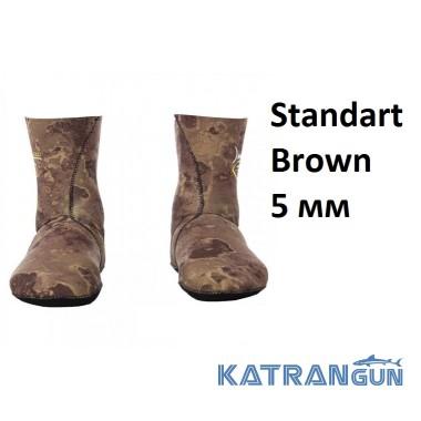 Подводные носки Marlin Standart Brown 5 мм