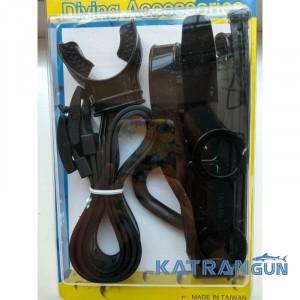 BS Diver Набір аксесуарів (2 ремінця для ножа, 1 ремінець для ласт, 1 для маски, трубки, + загубник + хомути)