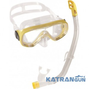 Набор для подводного плавания детский Cressi Sub Ondina Vip; желтый