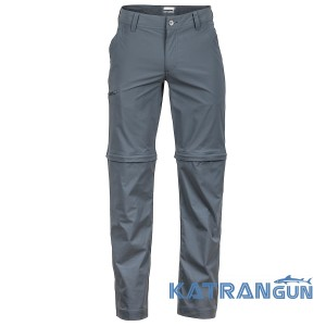 Штани туристичні Marmot Transcend Convertible Pant Long, Slate Grey