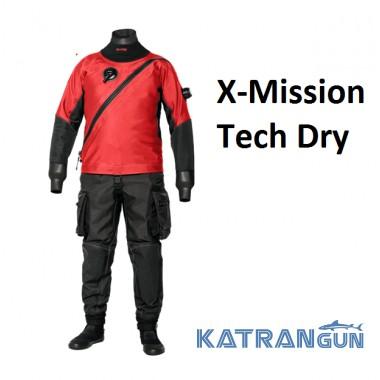 Сухой гидрокостюм для технодайверов Bare X-Mission Tech Dry