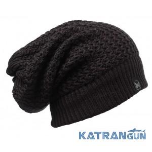 Двусторонняя шапка шарф Buff Knitted Neckwarmer Hat Ramdon black