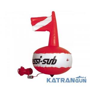 Буй круглый с надувным флагом Cressi Competition Float