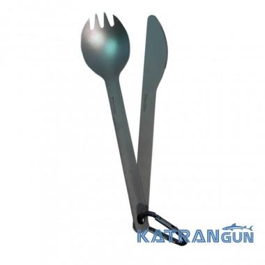 Ложка вилка нож туриста Sea To Summit Titanium Knife + Spork set