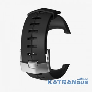 Комплект силиконового ремешка для Suunto DX; черный, серебряная пряжка