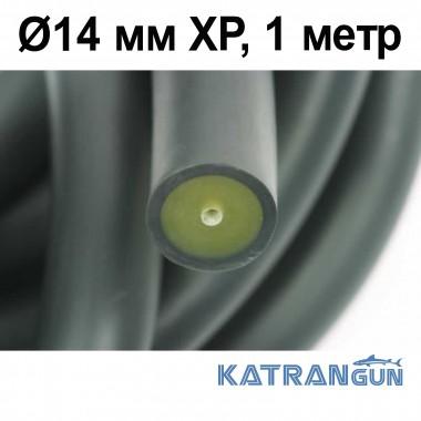 Тяга для арбалета в бухтах Pathos Latex Anaconda Ø14 мм XP, черная 1 метр