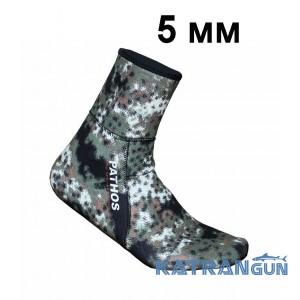 Носки для подводной охоты Pathos Medi Camo 5 мм